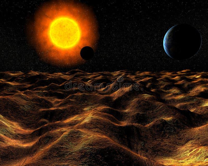 όψη επιφάνειας πλανητών απεικόνιση αποθεμάτων