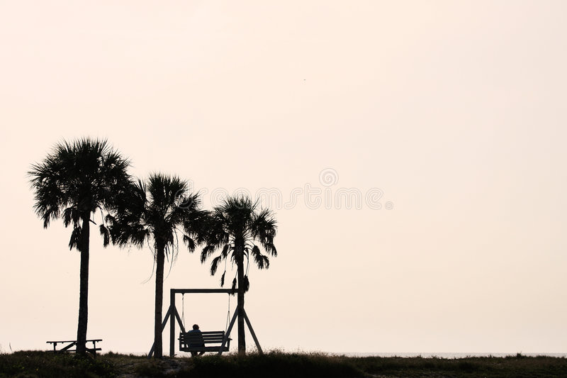 όψη ηλιοβασιλέματος σκιαγραφιών στοκ φωτογραφία με δικαίωμα ελεύθερης χρήσης
