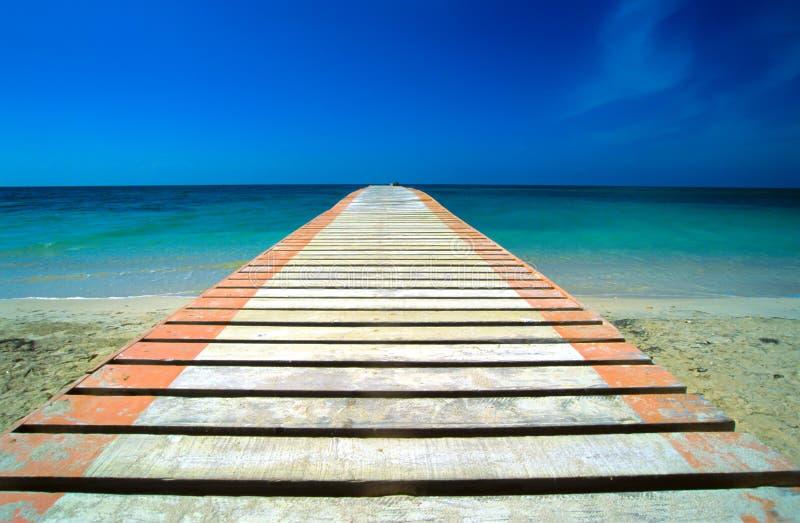όψη θάλασσας γεφυρών στοκ φωτογραφία
