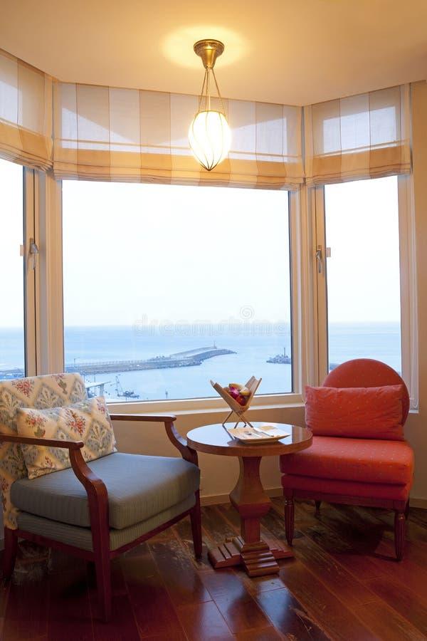 όψη θάλασσας δωματίων στοκ φωτογραφία