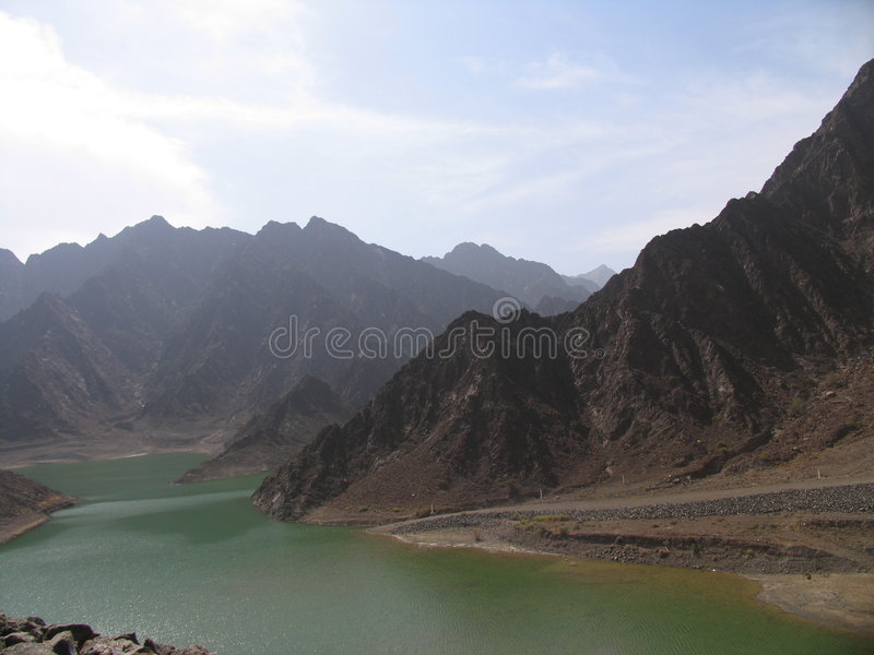 όψη λιμνών hatta στοκ φωτογραφία με δικαίωμα ελεύθερης χρήσης