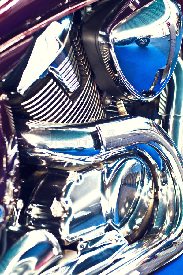 όψη μοτοσικλετών μηχανών powefull στοκ εικόνα