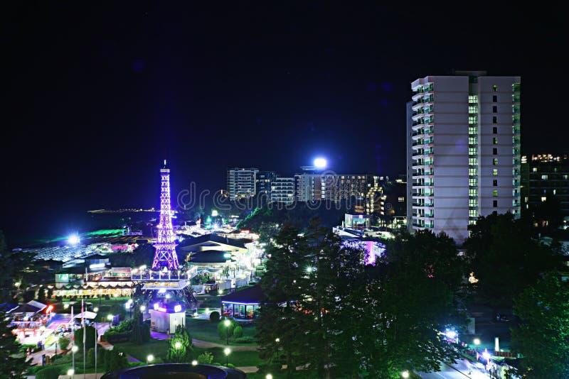 Όψη νύχτας της πόλης στοκ εικόνα