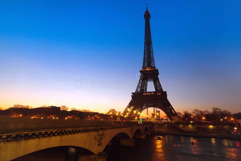 Όψη νύχτας του Παρισιού στοκ φωτογραφία με δικαίωμα ελεύθερης χρήσης