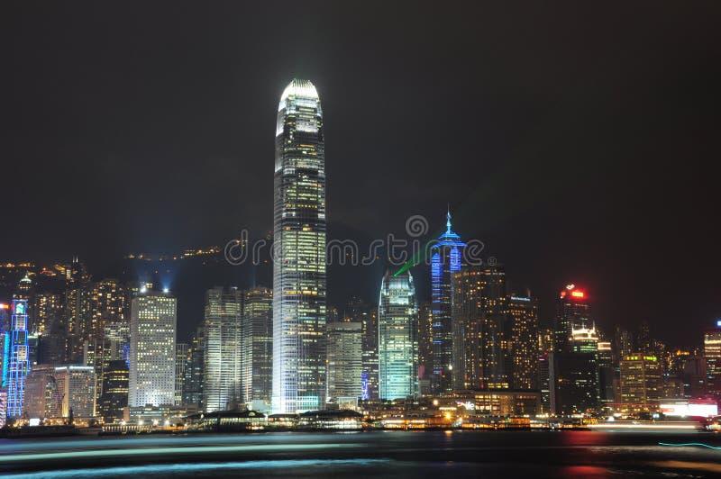 Όψη νύχτας του Χογκ Κογκ στοκ φωτογραφίες