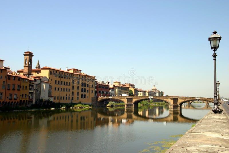 όψη ποταμών της Φλωρεντίας στοκ εικόνες με δικαίωμα ελεύθερης χρήσης