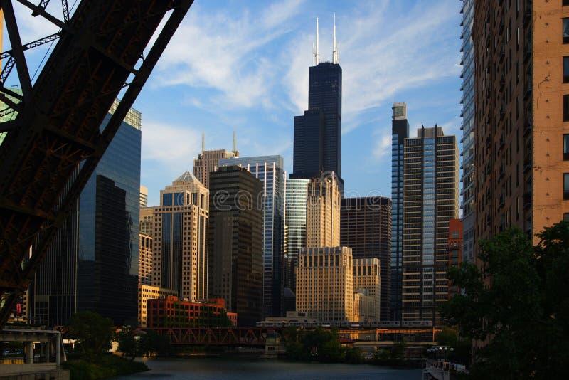 όψη πόλεων του Σικάγου στοκ εικόνα με δικαίωμα ελεύθερης χρήσης