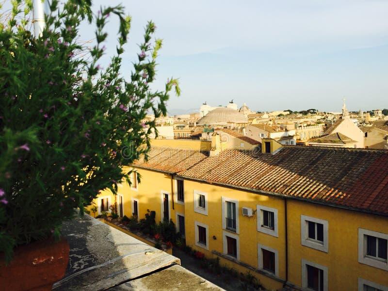 όψη στεγών της Ιταλίας Ρώμη στοκ εικόνες με δικαίωμα ελεύθερης χρήσης