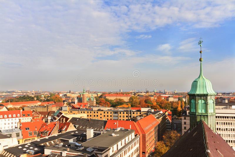 Όψη στεγών της Κοπεγχάγης στοκ εικόνες με δικαίωμα ελεύθερης χρήσης