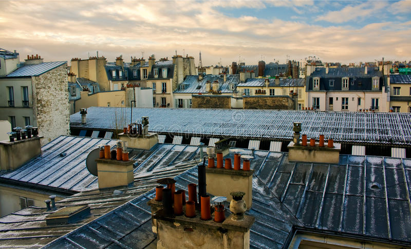 όψη στεγών του Παρισιού στοκ φωτογραφίες με δικαίωμα ελεύθερης χρήσης