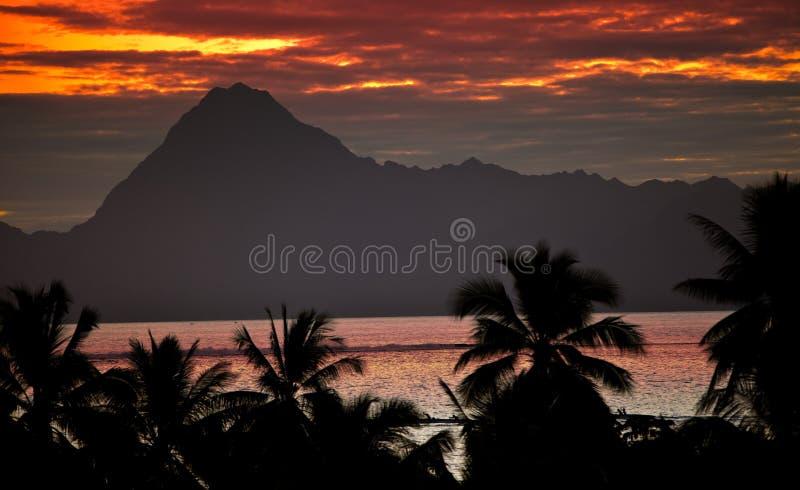 Όψη σχετικά με το βουνό Orohena. Πολυνησία. Ταϊτή. στοκ φωτογραφίες με δικαίωμα ελεύθερης χρήσης