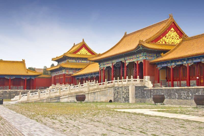 Όψη της απαγορευμένης πόλης, Κίνα στοκ εικόνες