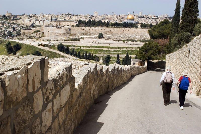 Όψη της Ιερουσαλήμ από το υποστήριγμα των ελιών στοκ φωτογραφίες με δικαίωμα ελεύθερης χρήσης