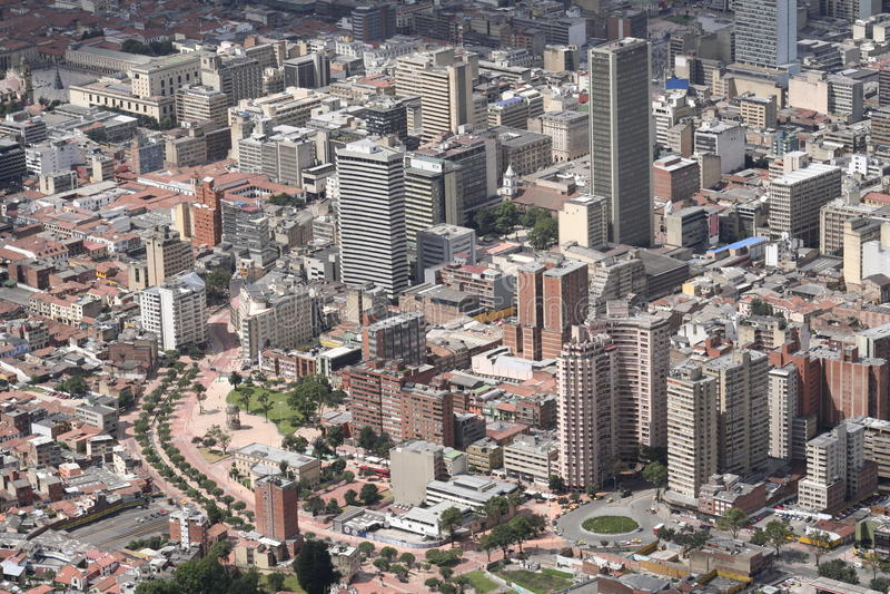 όψη της Μπογκοτά στοκ φωτογραφίες