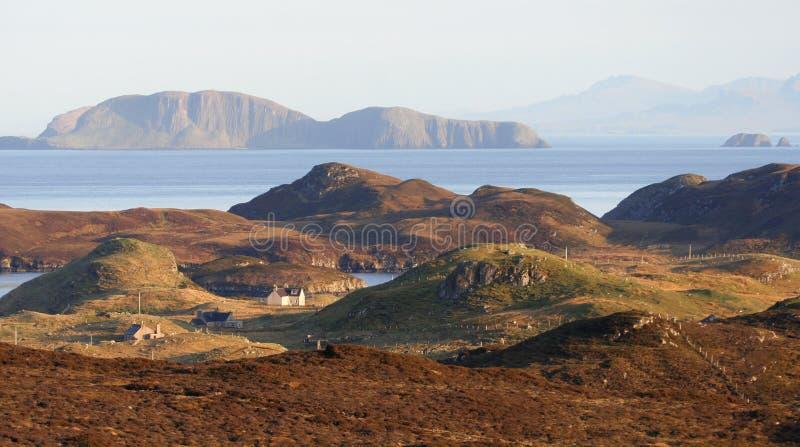 όψη της Σκωτίας ακτών hebrides στοκ φωτογραφία