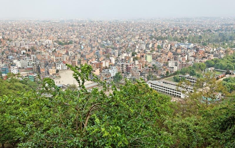 όψη του Κατμαντού Νεπάλ πόλ&eps στοκ εικόνα