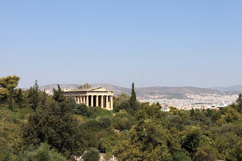 Όψη του ναού Hephaestus στοκ εικόνα με δικαίωμα ελεύθερης χρήσης
