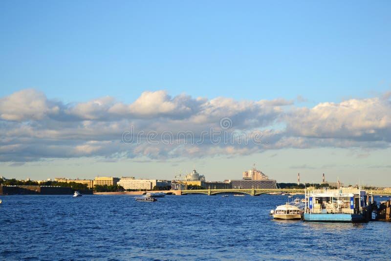 Όψη του ποταμού Neva στοκ φωτογραφίες