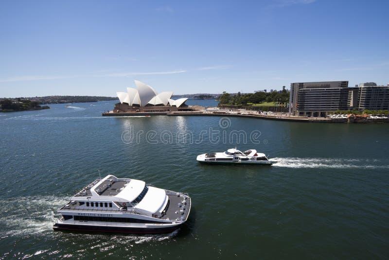 όψη του Sidney οπερών λιμενικών σπιτιών πορθμείων στοκ εικόνα