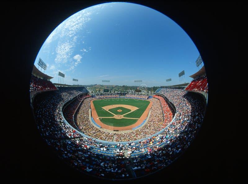 Όψη Fisheye του στάδιο των Dodgers, Λος Άντζελες, ασβέστιο στοκ φωτογραφία με δικαίωμα ελεύθερης χρήσης