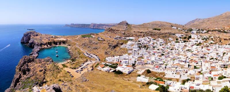 Όψη Lindos, Ελλάδα στοκ φωτογραφία με δικαίωμα ελεύθερης χρήσης
