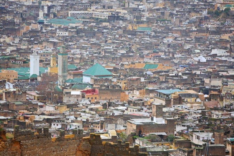 όψη medina του Fez στοκ φωτογραφία με δικαίωμα ελεύθερης χρήσης