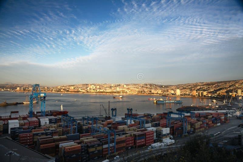 όψη valparaiso θαλάσσιων λιμένων τη&sigmaf στοκ φωτογραφία με δικαίωμα ελεύθερης χρήσης