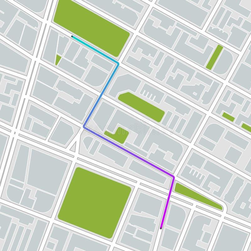 όλη η πόλη αλλαγής ανασκόπησης χρωματίζει τα εύκολα στρώματα αρχείων στοιχείων χαρτογραφεί το άνευ ραφής επίλεκτο χωρισμένο swatc διανυσματική απεικόνιση