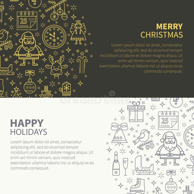 όλος εμβλημάτων Χριστουγέννων cmyk χρώματος ο εύκολος editable τρόπος πλέγματος στοιχείων βαλμένος σε στρώσεις αρχείο έθεσε χωρισ απεικόνιση αποθεμάτων