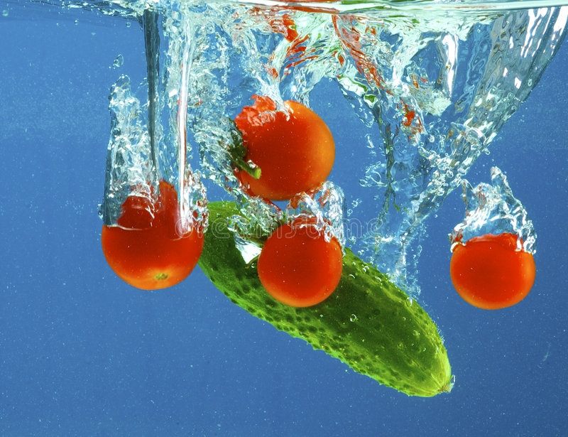 ύδωρ λαχανικών στοκ φωτογραφία