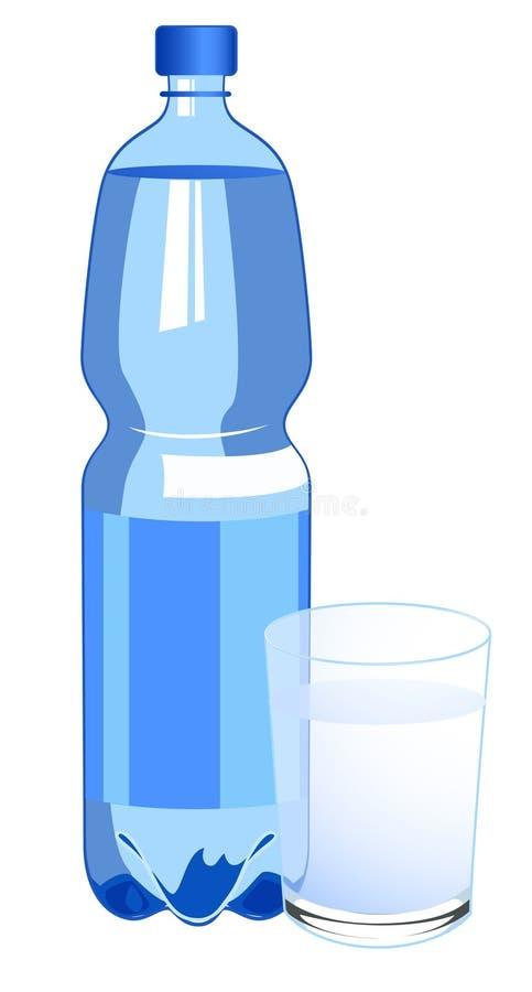 ύδωρ μπουκαλιών διανυσματική απεικόνιση