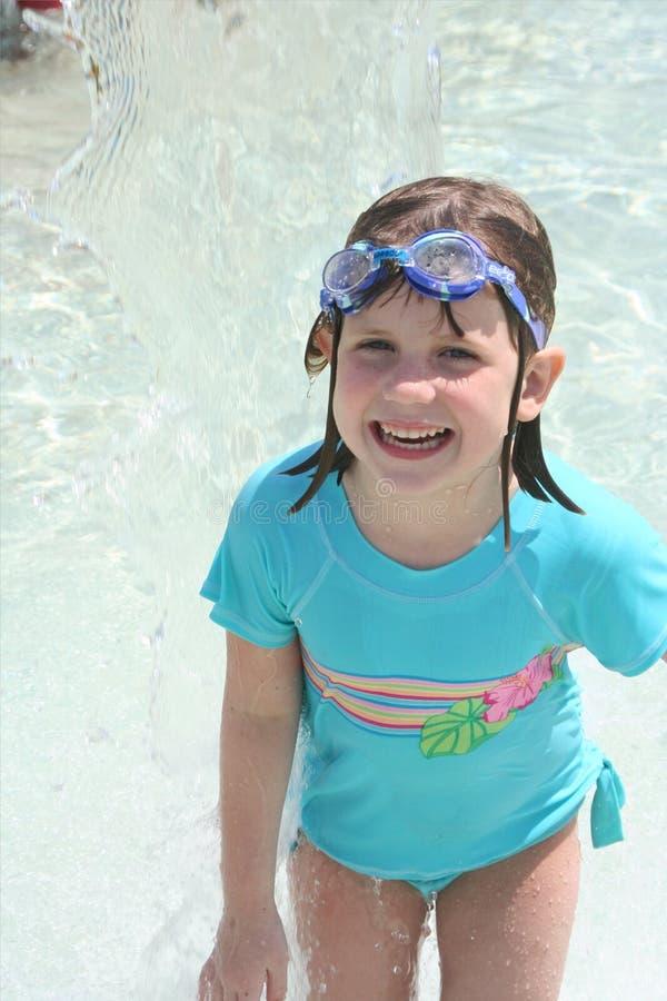 ύδωρ πάρκων 3 κοριτσιών στοκ εικόνες με δικαίωμα ελεύθερης χρήσης