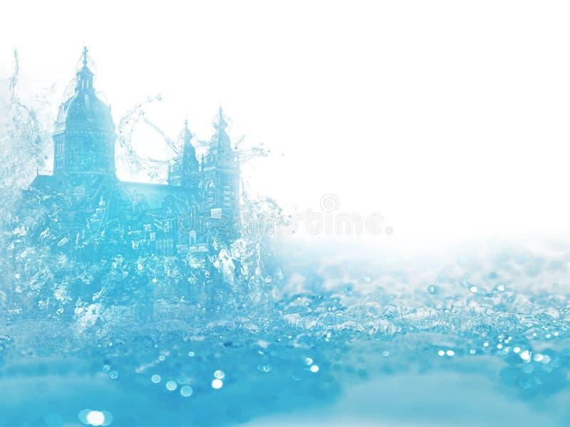 ύδωρ παλατιών στοκ φωτογραφία