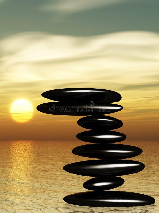 ύδωρ πετρών zen απεικόνιση αποθεμάτων
