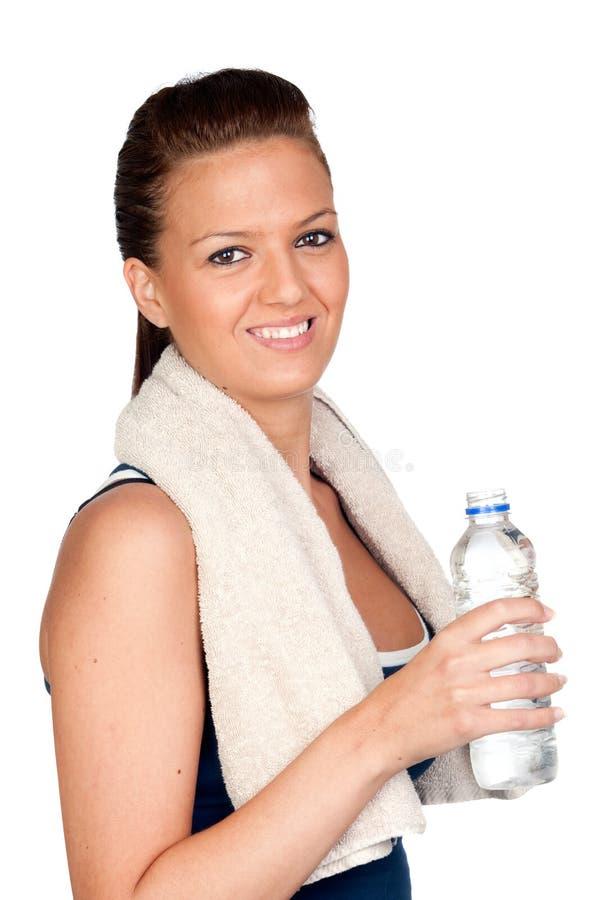 ύδωρ πετσετών γυμναστική&sigmaf στοκ φωτογραφία με δικαίωμα ελεύθερης χρήσης