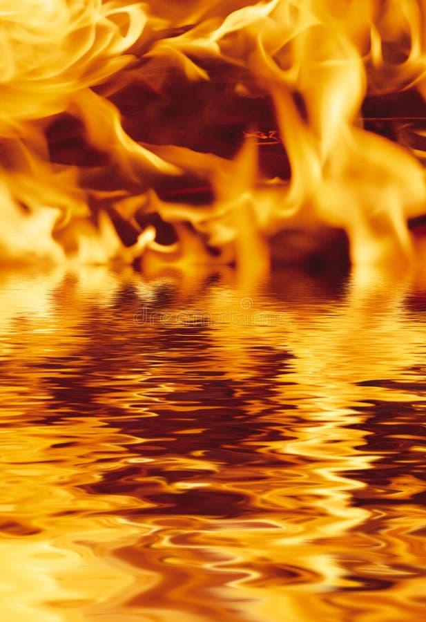 ύδωρ πυρκαγιάς στοκ εικόνα