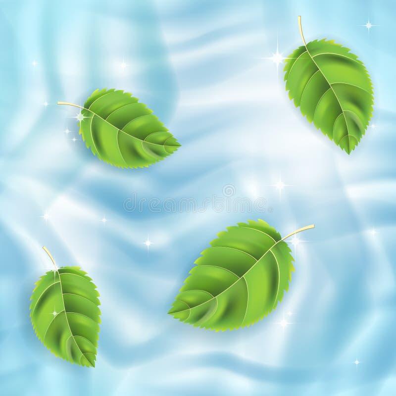 ύδωρ φύλλων απεικόνιση αποθεμάτων