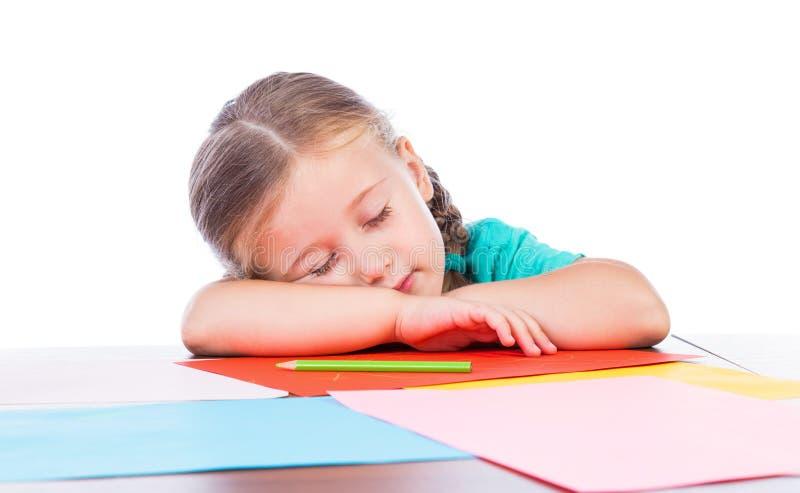 Ύπνοι κοριτσιών στοκ εικόνα με δικαίωμα ελεύθερης χρήσης