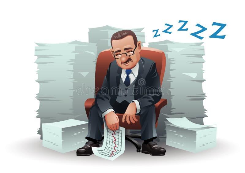 ύπνος επιχειρηματιών ελεύθερη απεικόνιση δικαιώματος