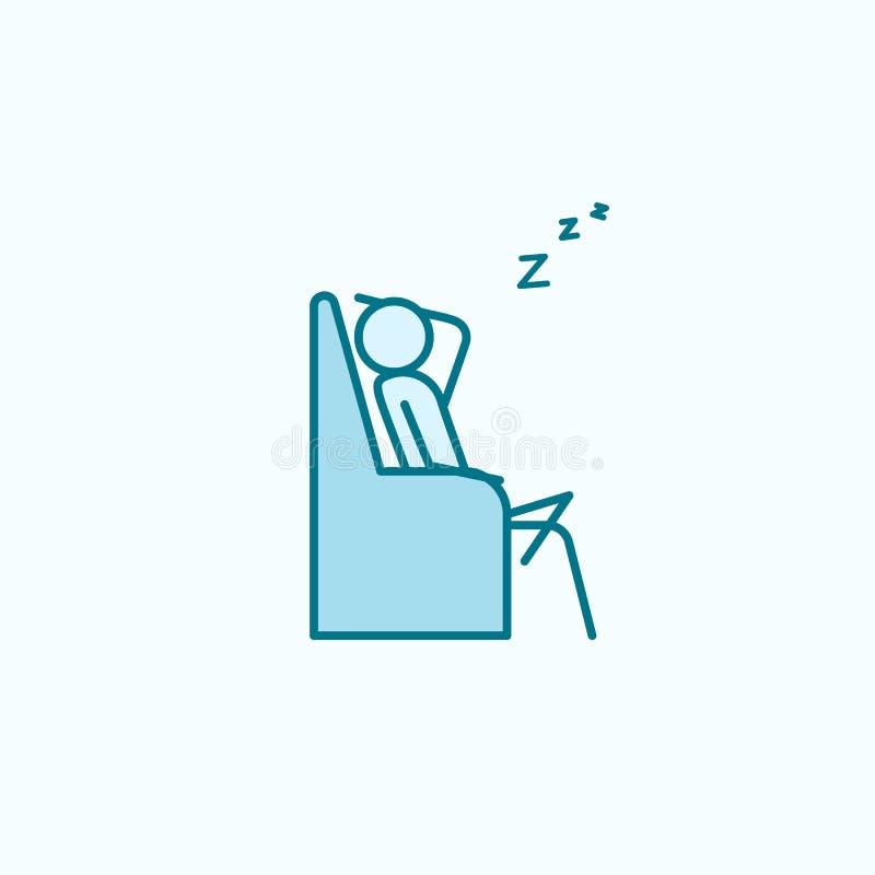 ύπνος στο εικονίδιο περιλήψεων καναπέδων ελεύθερη απεικόνιση δικαιώματος