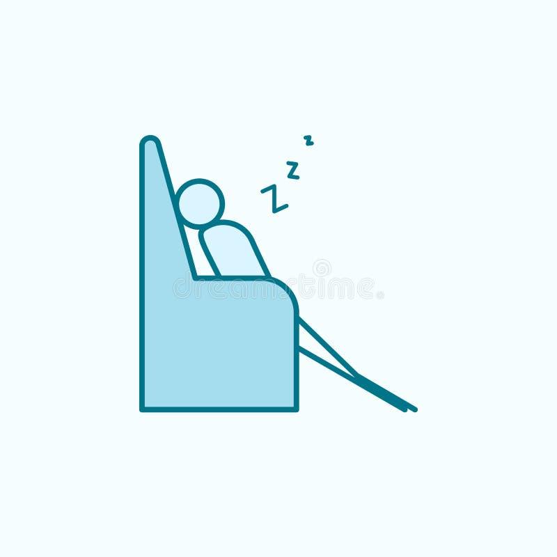 ύπνος στο εικονίδιο περιλήψεων καναπέδων απεικόνιση αποθεμάτων