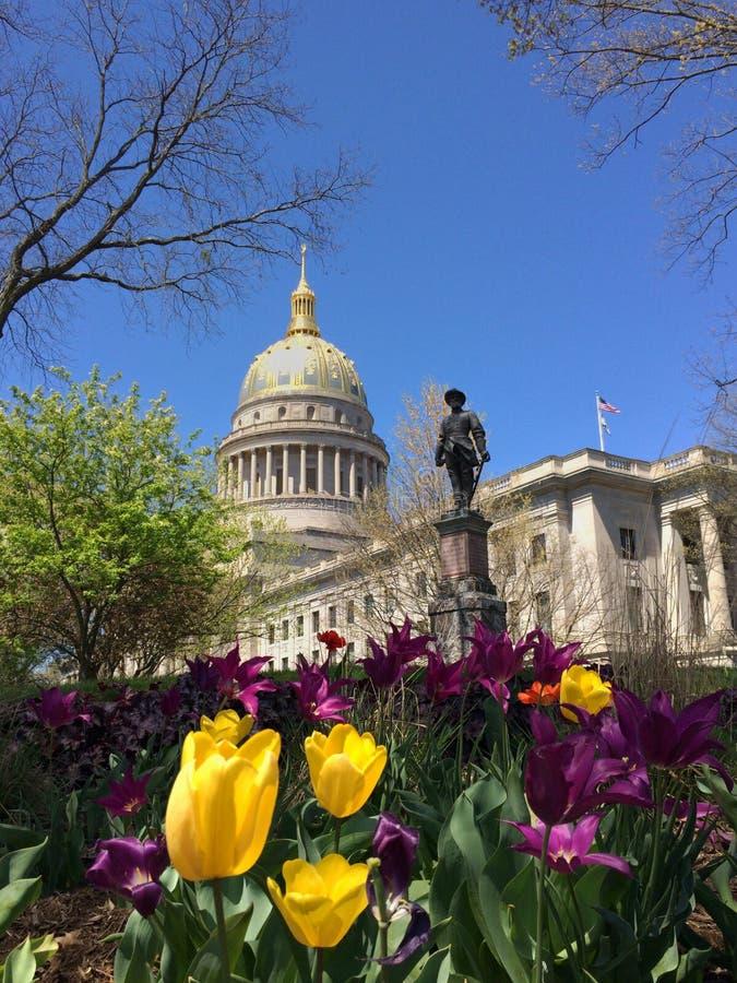 δύση της κρατικής Βιρτζίνια capitol στοκ εικόνες
