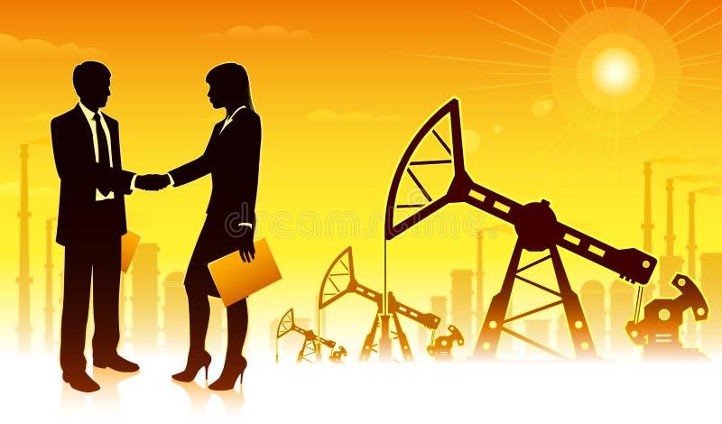 δύση της Σιβηρίας πετρελαίου βιομηχανίας διάτρυσης καλά ελεύθερη απεικόνιση δικαιώματος