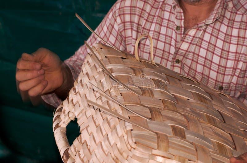 ύφανση προσώπων καλαθιών Στοκ Φωτογραφίες