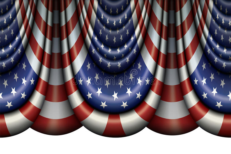 Ύφασμα Ηνωμένων σημαιών απεικόνιση αποθεμάτων