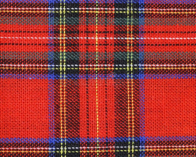 Ύφασμα με τον κόκκινο και μπλε ταρτάν-τύπο σκωτσέζικα στοκ εικόνα