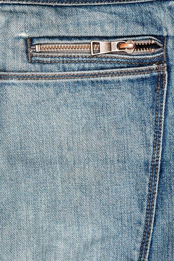 Ύφασμα τζιν παντελόνι με το φερμουάρ στοκ εικόνες με δικαίωμα ελεύθερης χρήσης