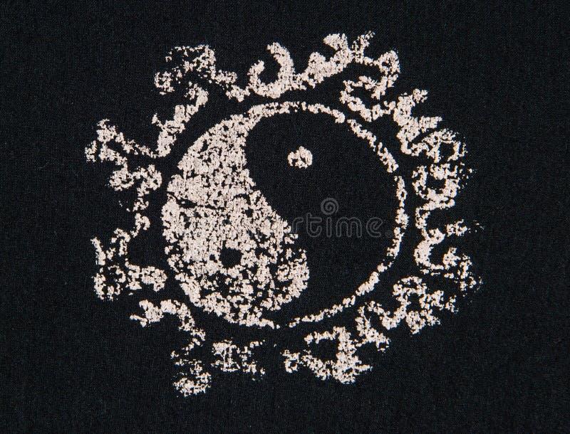 Ύφασμα τυπωμένων υλών Ying yang απεικόνιση αποθεμάτων
