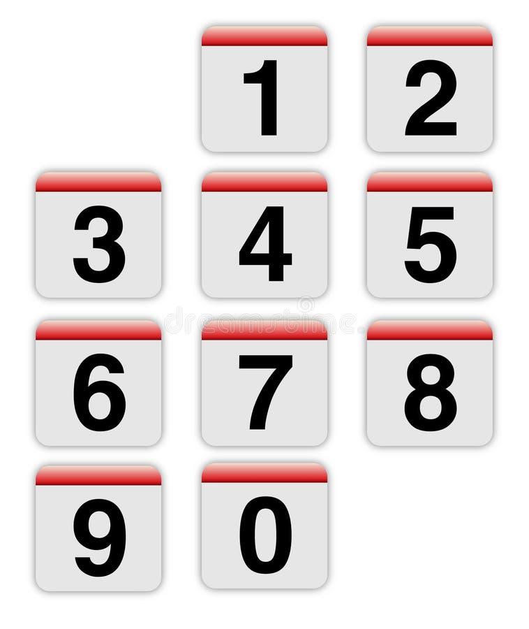 ύφος αριθμών της MAC απεικόνιση αποθεμάτων