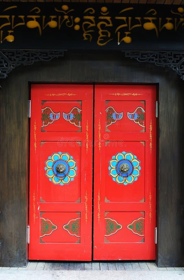 ύφος Θιβετιανός πορτών στοκ φωτογραφία με δικαίωμα ελεύθερης χρήσης